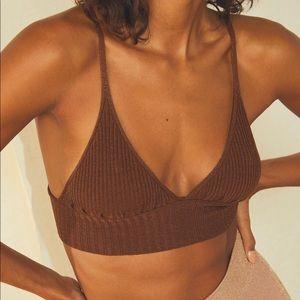FREE PEOPLE Ellery Sweater Longline Bralette